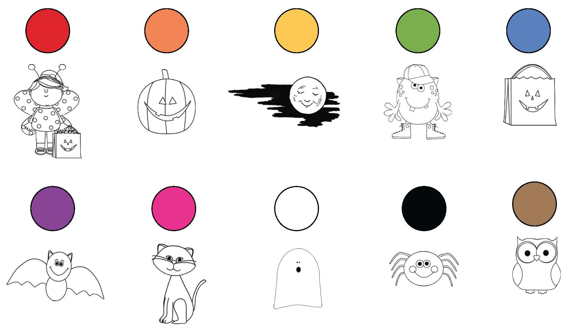 Halloween activities, Halloween games, beginning capitalization activities, end punctuation activities, common core Halloween, color words, color activities, colors, color games, Halloween coloring pages.