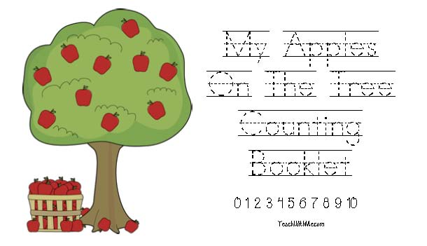 apple activities, apple lessons, apple ideas, apple booklets, apple counting booklet, counting apples, common core apples, apple tree acitivities, free common core for kindergarten,