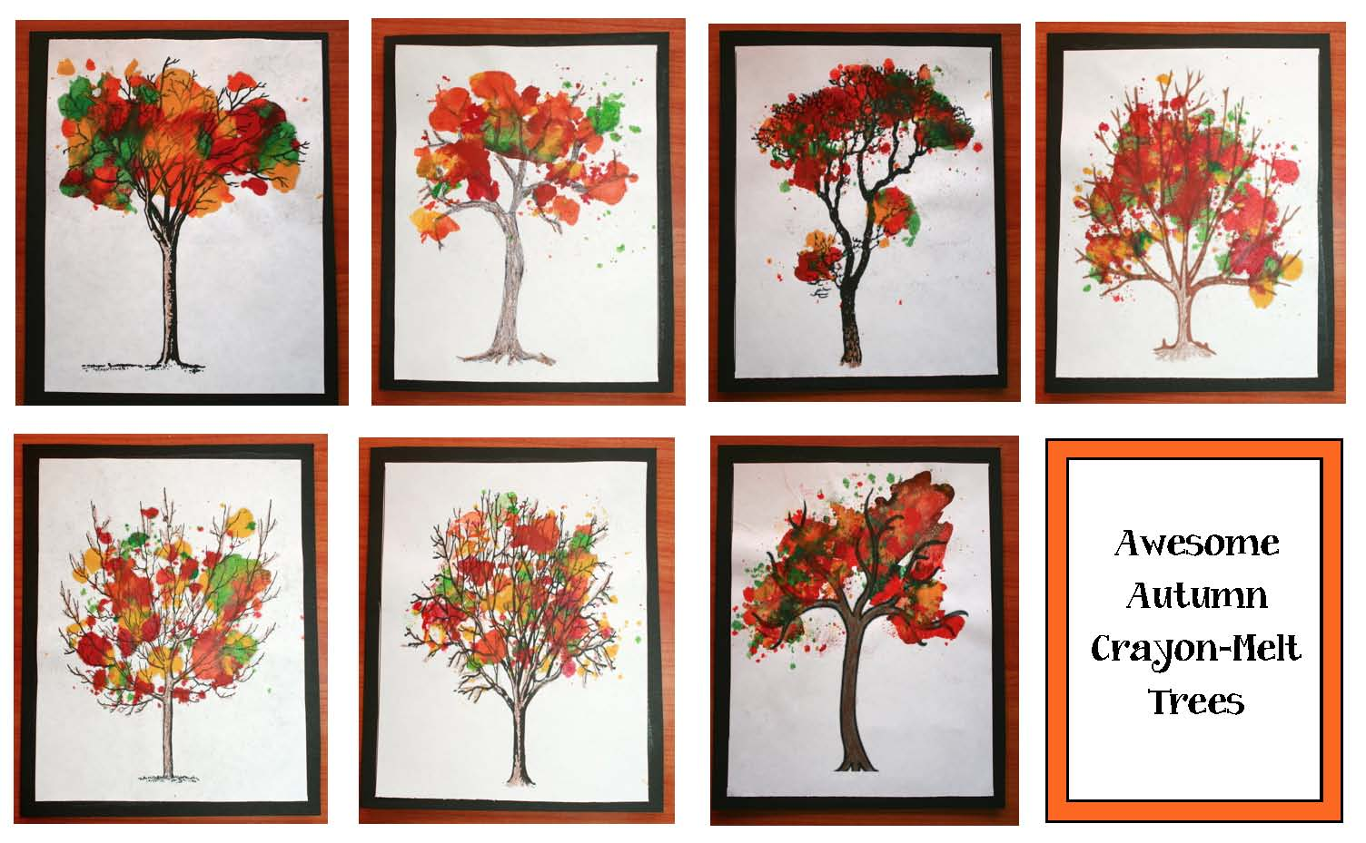fall arts and crafts, leaf activities, leaf crafts, fall crafts, chlorophyll activities, fall bulletin boards, ideas for october bulletin boards, fall leaf bulletin boards,melted crayon activities