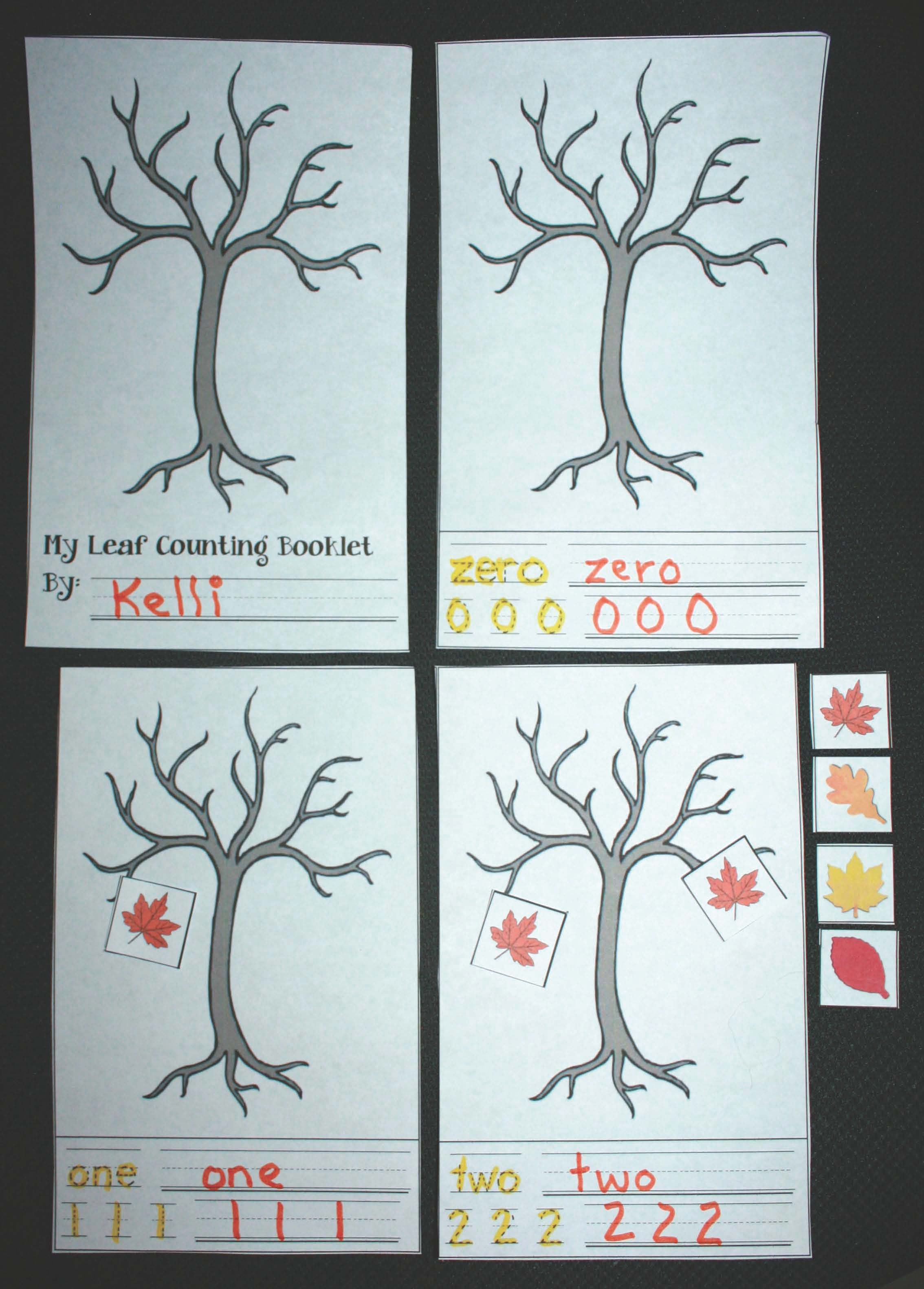 leaf activities, leaf counting booklet, skip counting activities, counting worksheets, number writing worksheets, free math worksheets, common core leaves, counting booklets, leaf games, leaf centers, math games, math centers, fall themed worksheets,