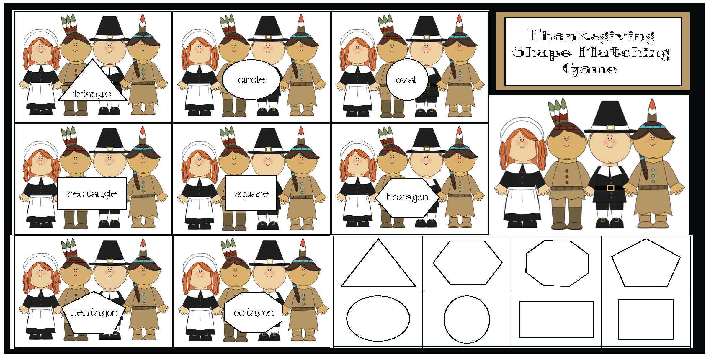pilgrim activities, thanksgiving activities, pilgrim 10 frames, 10 frames templates, thanksgiving 10 frames, addition and subtraction centers, math centers for thanksgiving, math activities for thanksgiving, november math games, shape games, math games, shape activities, common core thanksgiving, common core pilgrims, greater and less than activities, free 10 frame templates, pilgrim shape activities