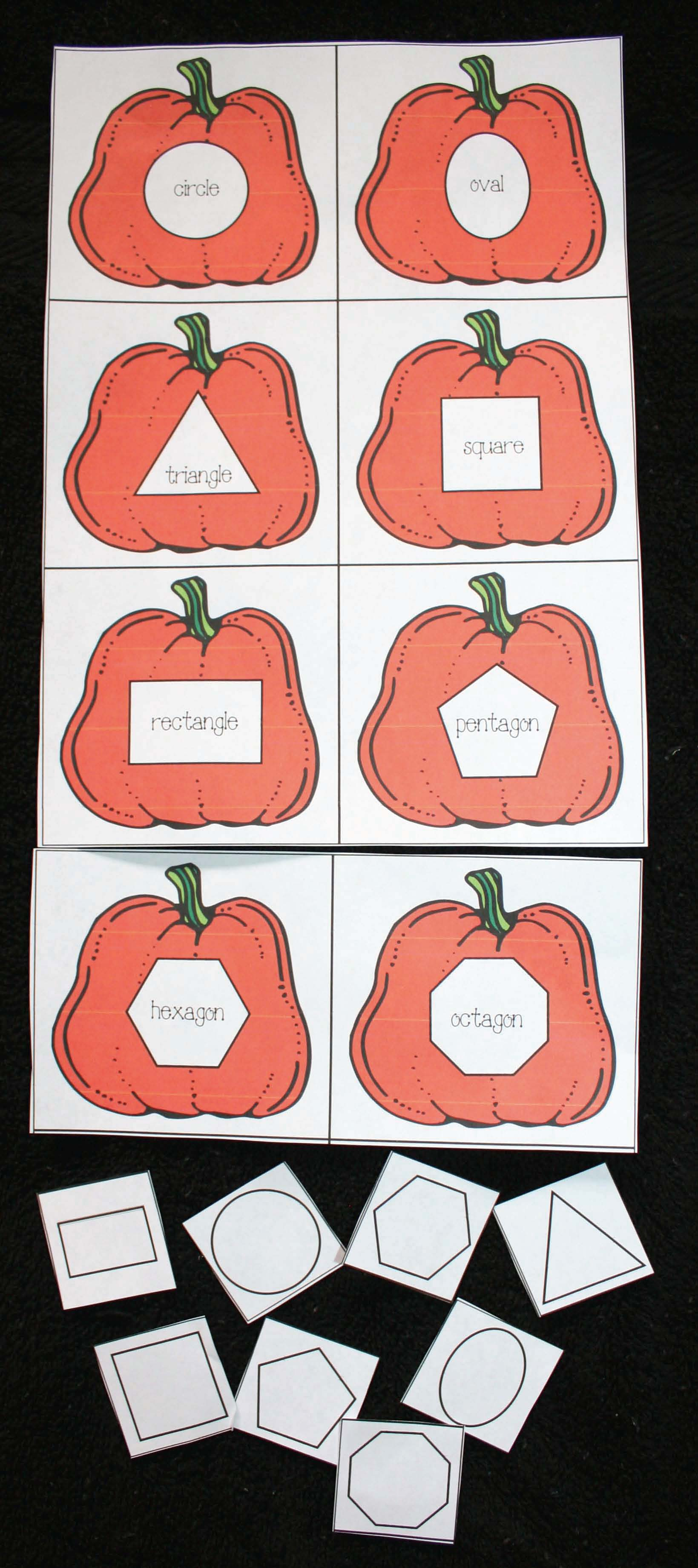 pumpkin activities, pumpkin lessons, pumpkin centers, pumpkin printables, free pumpkin printables, common core pumpkins, pumpkin counting cards, pumpkin templates, shape activities, Daily 5 for October, daily 5 word work for october, number word cards, pumpkin games,