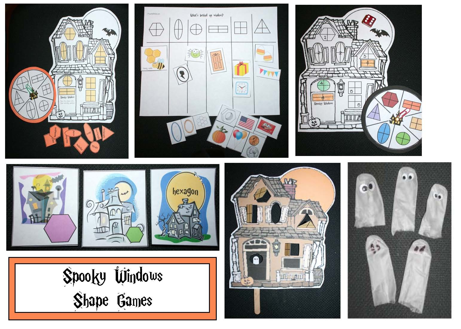 fact family haunted houses, haunted house activities, haunted house crafts, fact families, haunted house games, halloween games, math games, shape activities, shape games