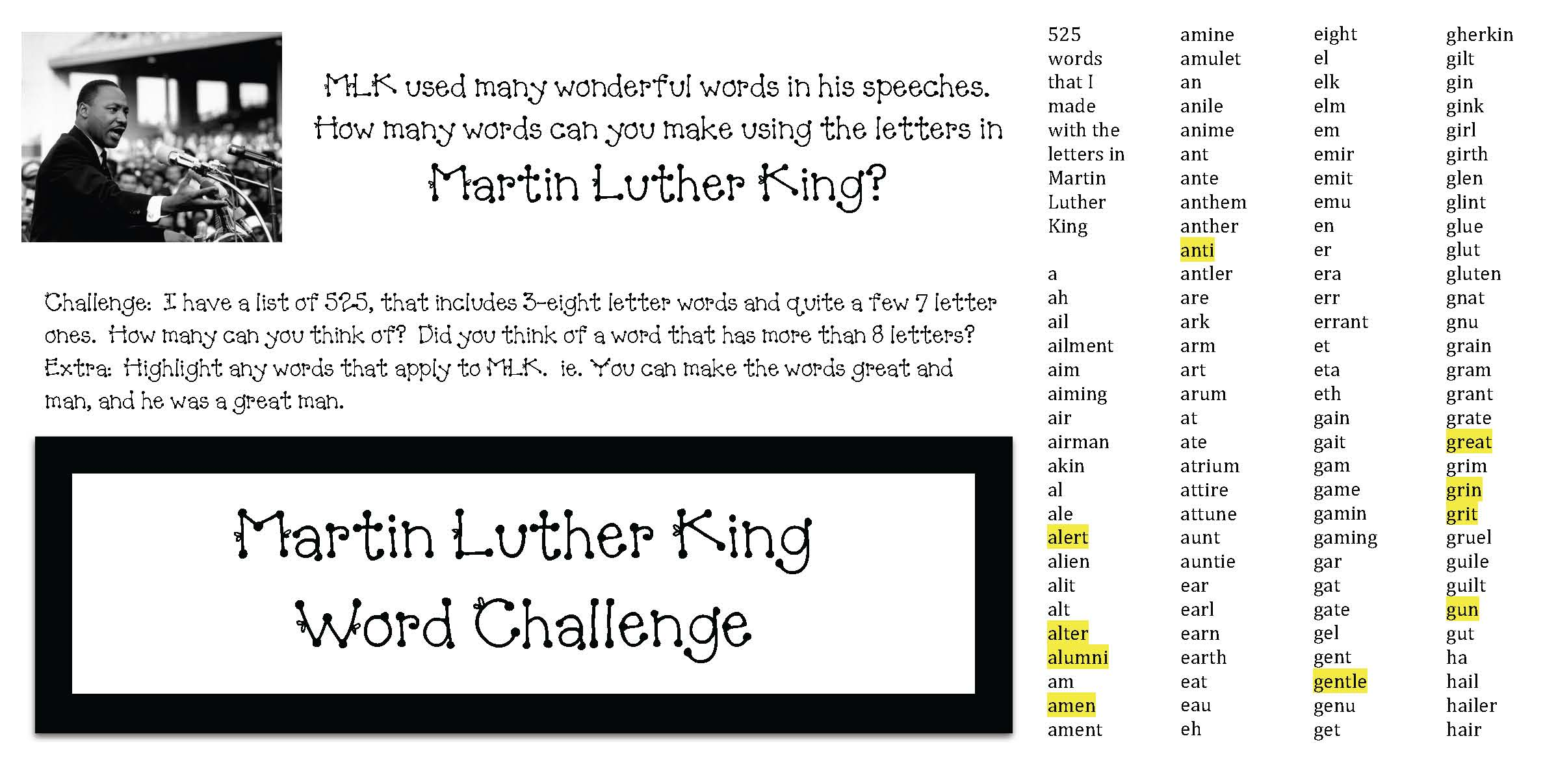 MLK ideas, MLK activities, 35 favorite mlk quotes, mkl quotations, 35 martin luther king quotes, quotes by martin luther king, martin luther king day activities, martin luther king activities, martin luther king crafts, martin luther king sites, martin luther king books, martin luther king activities for kids, martin luther king writing promtps, writing prompts for january, MLK crafts, MLK writing promtps, MLK lessons for young children, good books for martin luther king day