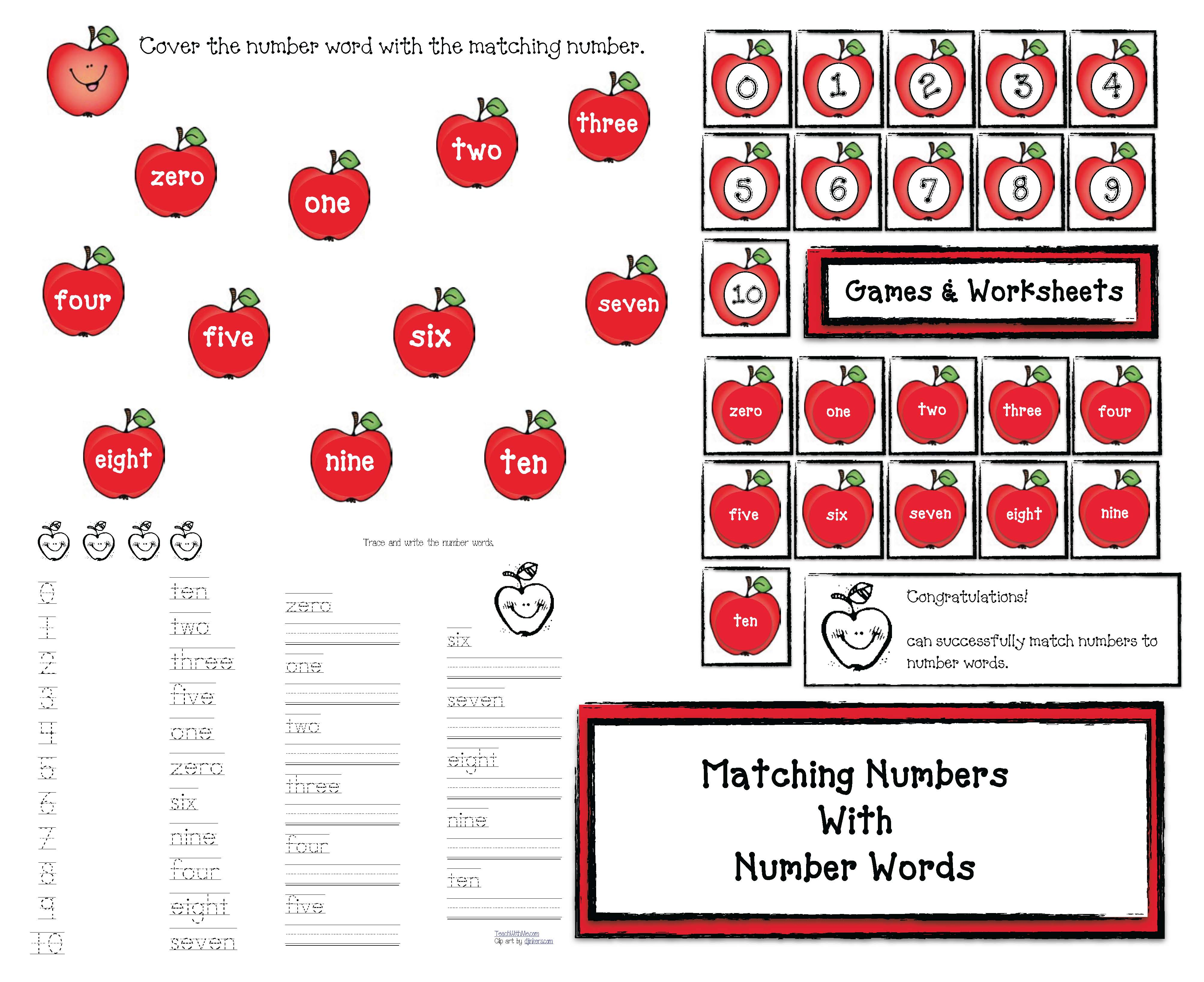 apple activities, number word matching, number games, apple games, apple crafts, alphabet games, alphabet assessment, alphabet activities, alphabet crafts, CCSS for K, CCSS for 1st