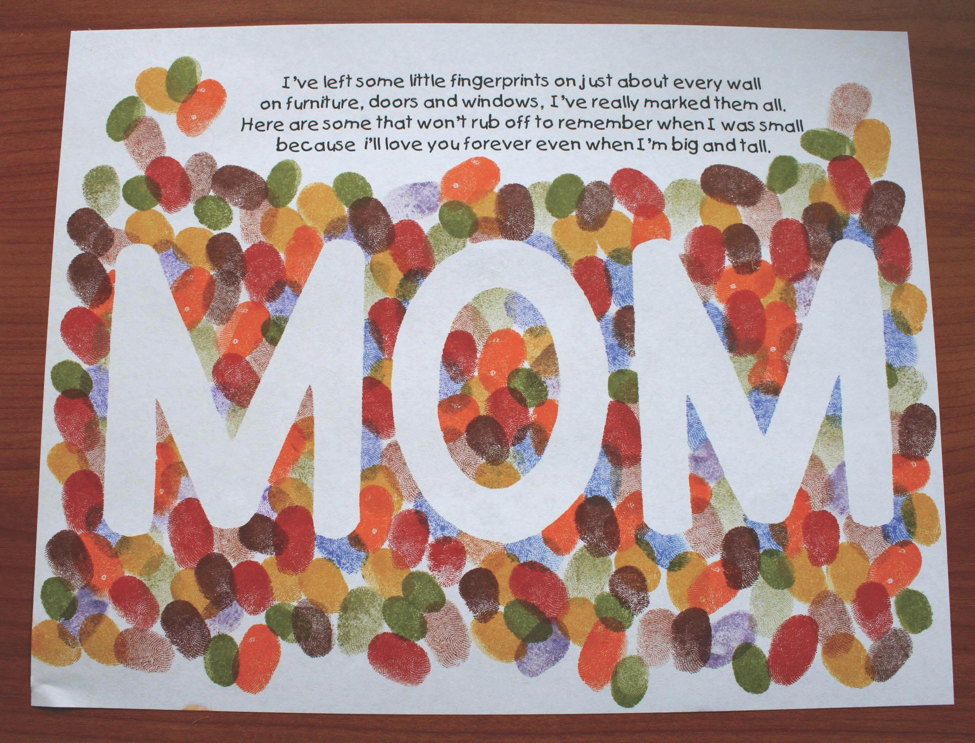 fingerprint art, mothers day crafts, mothers day gifts, mothers day activities, writing prompts for mothers day, gifts and cards for mom that children can make, rainbow crafts, may writing prompts