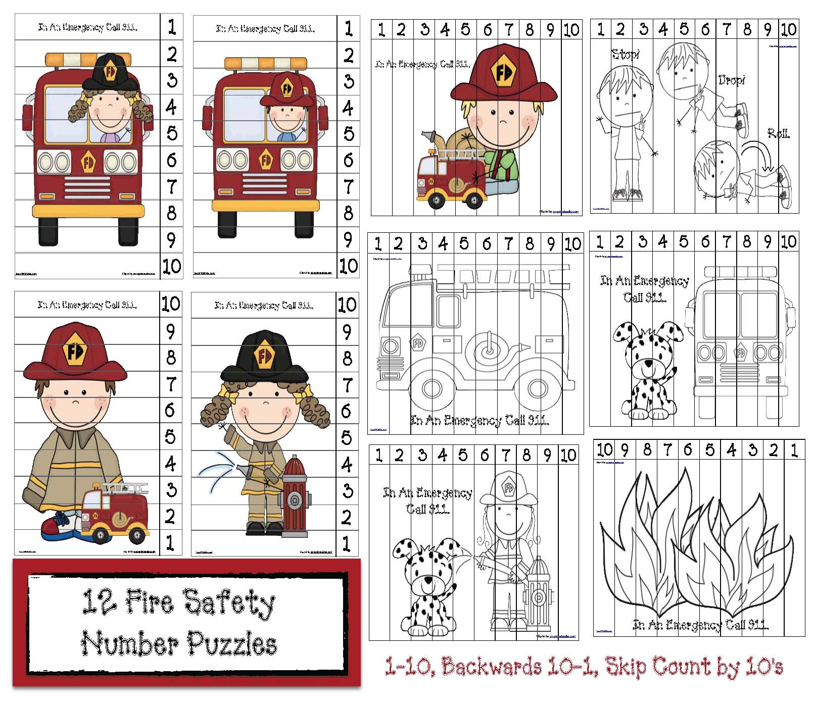fire safety number puzzles cov 2