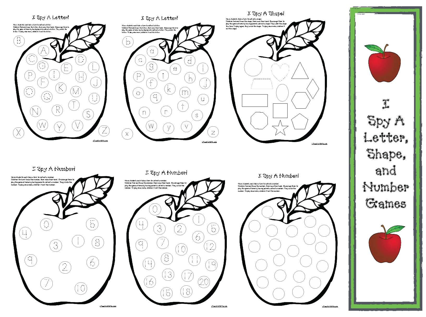 connect the dots worksheets, alphabet connect the dots, apple connect the dots, apple crafts, I spy games, I spy letters, I spy numbers, I spy shapes, shape activities, shape games, alphabet activities, alphabet games, apple games, apple puzzles, name activities,