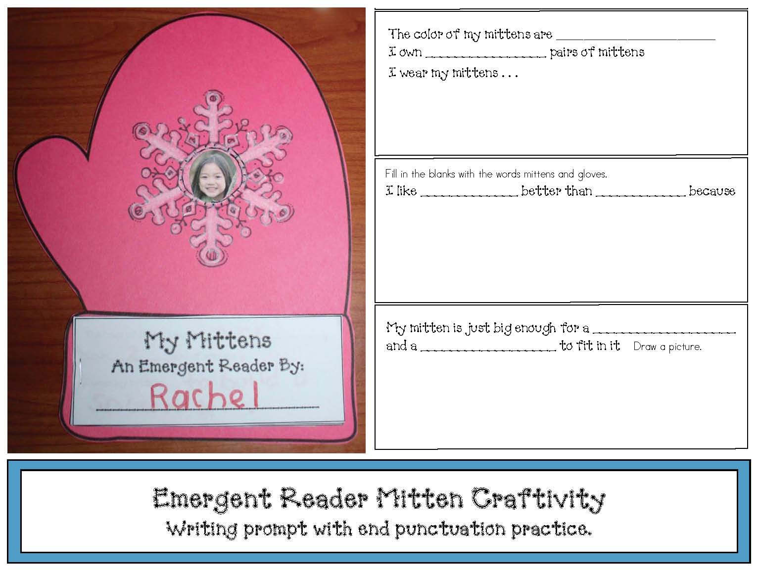 mitten activities, mitten crafts, mitten emergent reader, activities to go with The Mitten, emergent reader booklets, winter emergent readers, january bulletin board ideas, mitten bulletin boards, graphing activities, mitten graphing