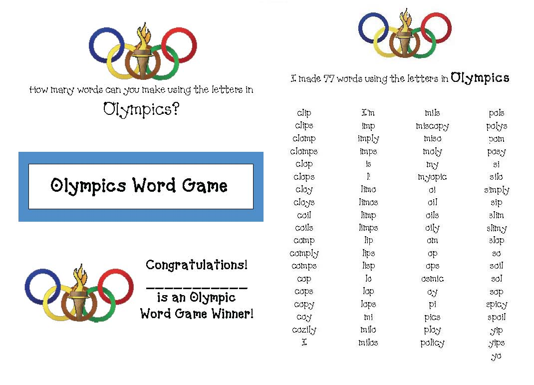 olympic alphabet cards, olympic report template, olympic reports for kids, alphabet activities, alphabet games, olympic games for kids, olympic word searches, 4 olympic word finds, olympic word finds, olympic puzzles, a list of 50 words associated with the olympics, 300 olympic word cards, olympics writing activities, olympics writing prompts, writing prompts for the olympics, olympic word games, how many words can you make using the letters in olympics, olympics books for kids, olympics acrostic, noun verb adjective sorting mat, noun verb adjective activities, parts of speech activities, olympics class book,