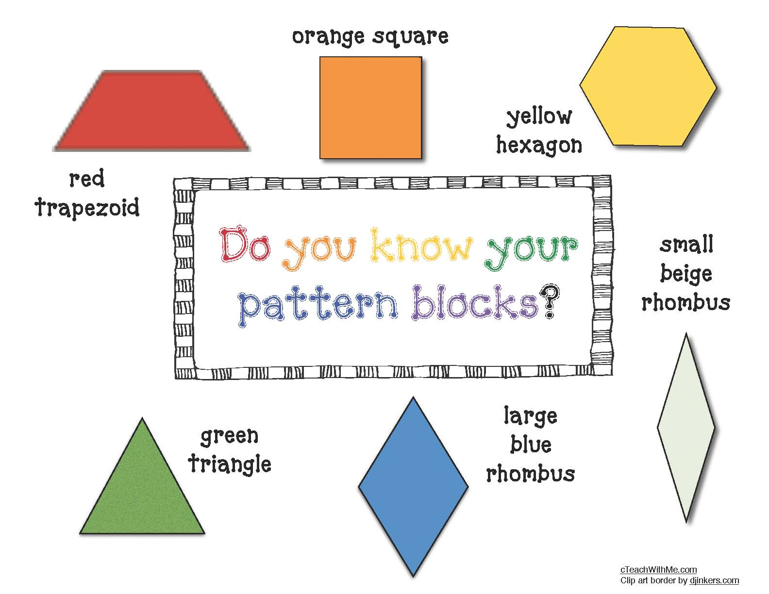 pattern blocks, pattern block activities, pattern block games, pattern block mats, 20 free pattern block mats, fractions with pattern blocks, pattern block pattern cards, pattern block alphabet cards, pattern block number cards, pattern block posters, pattern block math activities, shape activities, shape posters, traceable pattern blocks, pattern block templates