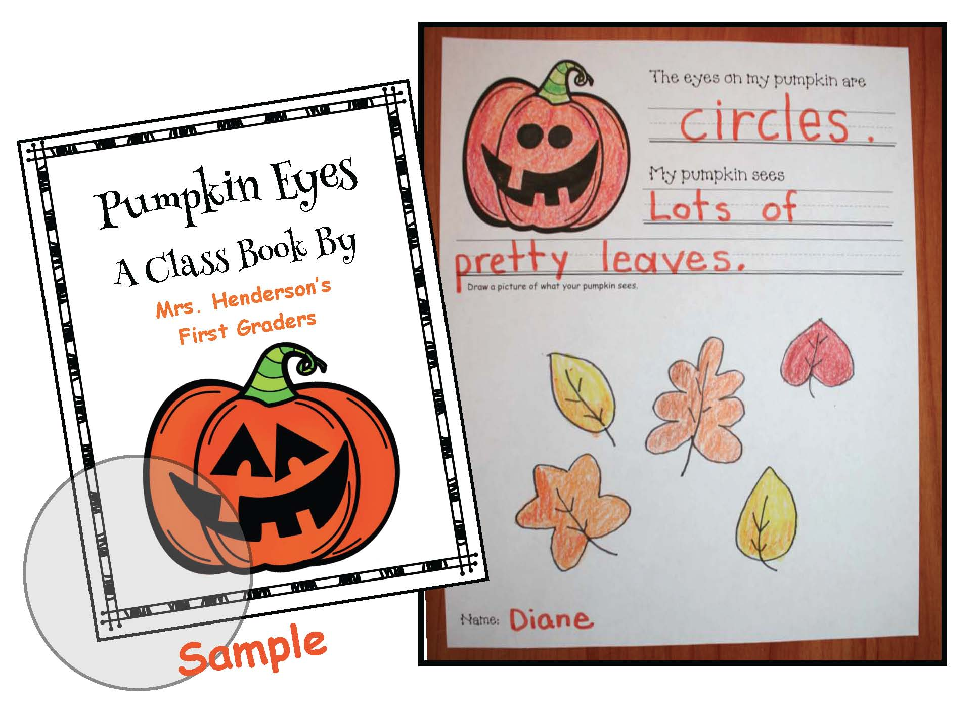 pumpkin activities, pumpkin crafts, emergent readers, class made book, october bulletin board ideas, writing prompts for october, pumpkin games, 2D shape activities, 2D shape games, assessing 2D shapes, 2D shape crafts