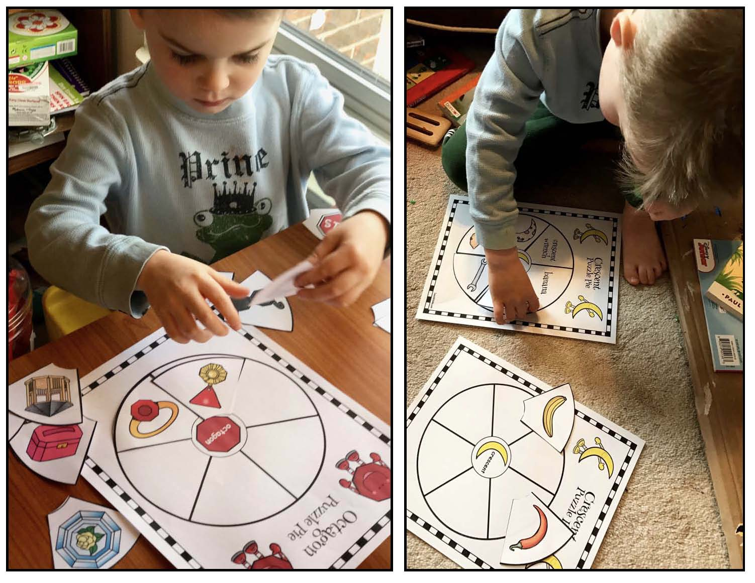 2D shape activities, 2D shape games, 2D shape puzzles, 2D shape centers, assessing 2D shapes