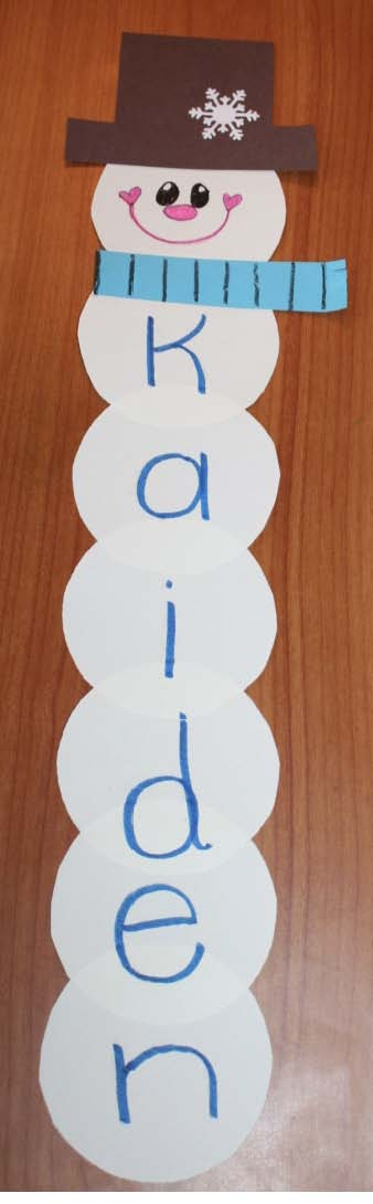 snowman name stackers for lockers, snowman name craft