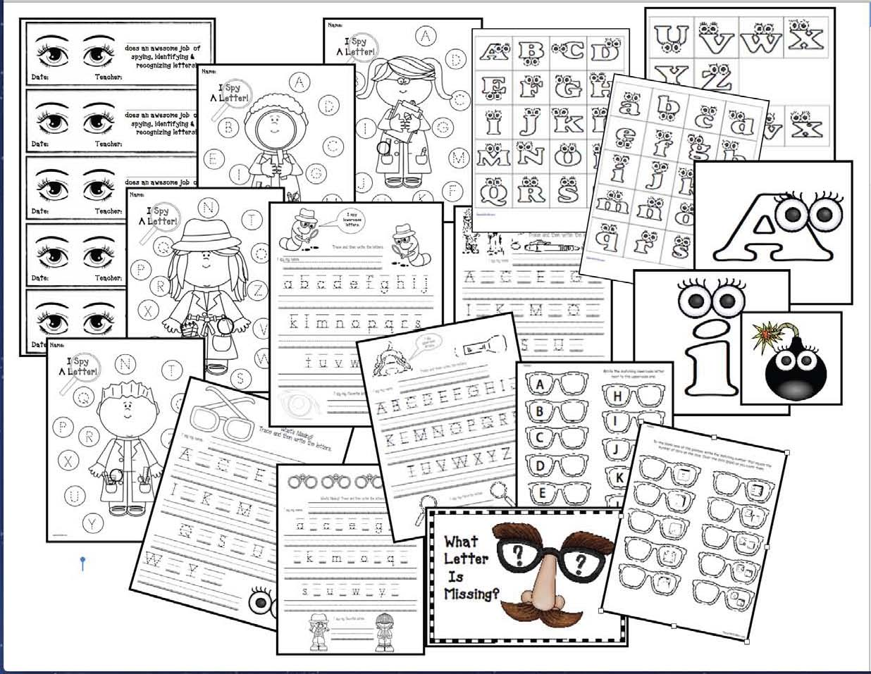 alphabet activities, alphabet games, alphabet centers, alphabet assessments, number games, number activities, number centers, math centers, back to school treats, end of the year gifts for students