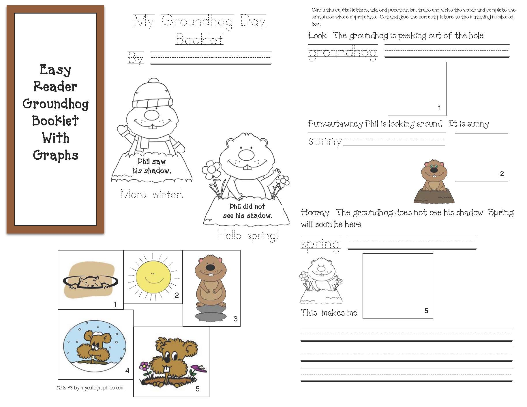 Free common core lessons for kindergarten and 1st grade, pentagon, hexagon, octagon, shape activities, shape booklet, shadow activities, shadow lessons, groundhog lessons, groundhog activities,