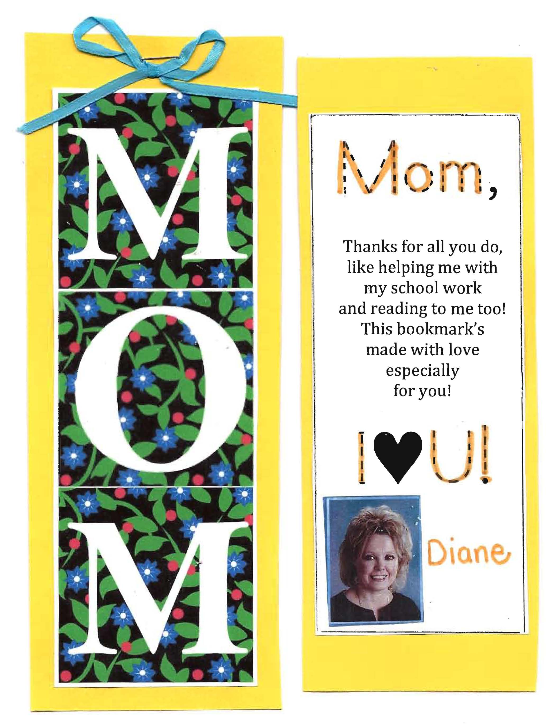 Mother's Day gift, Mother's Day bookmark