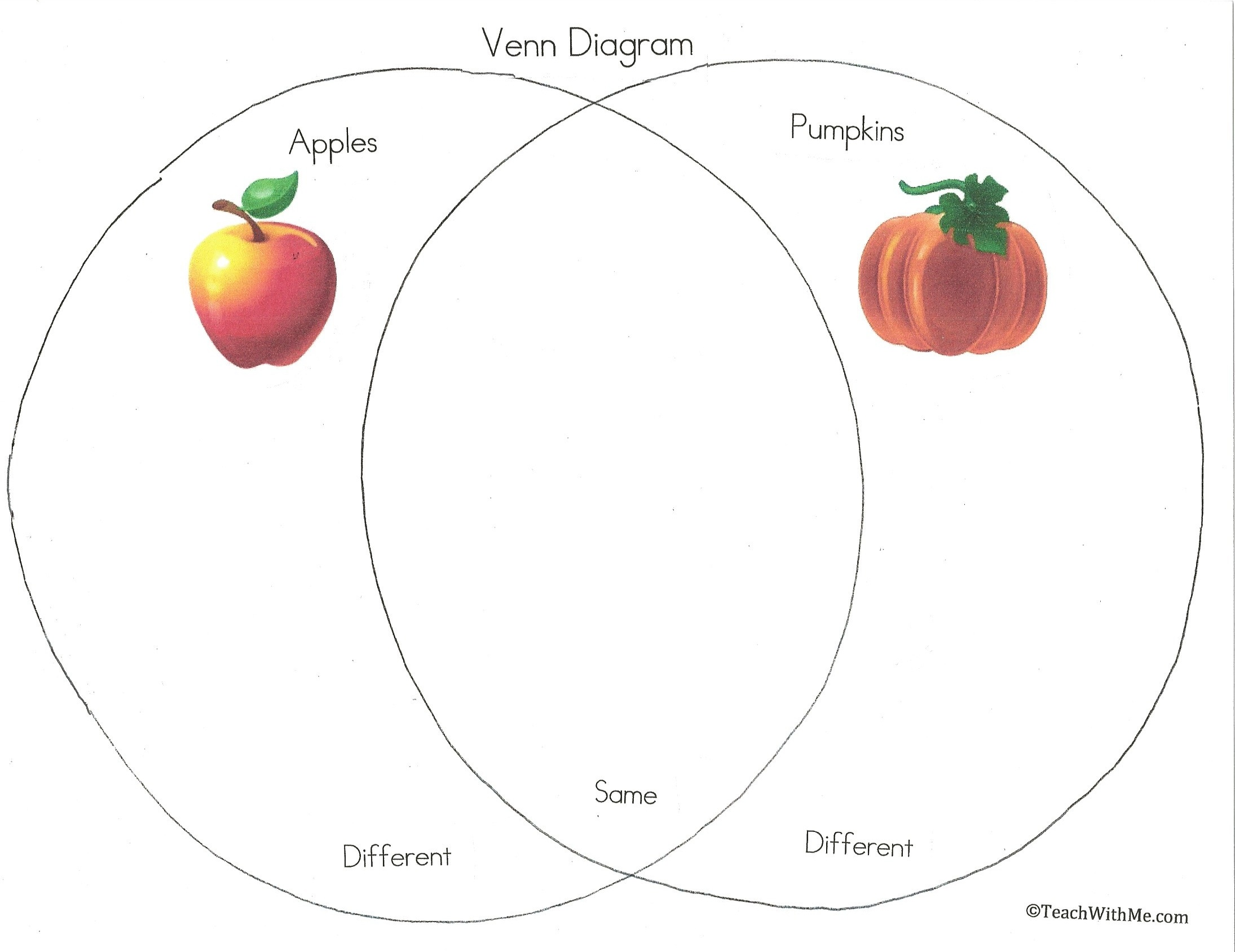 apple_pumpkin_venn_diagram, october art activities, apple pumpkin graphs,