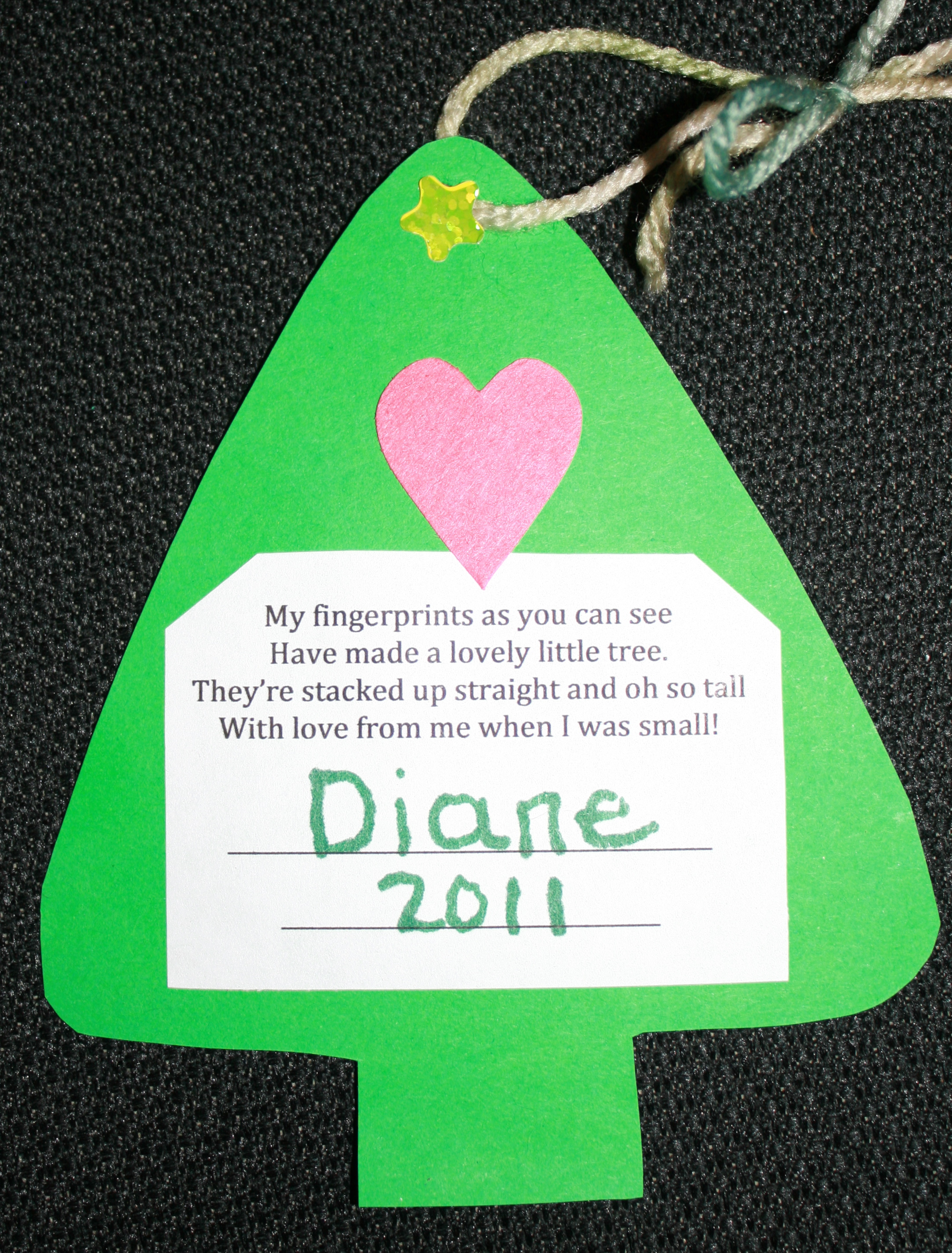 fingerprint Christmas tree ornament, Christmas ornaments, Christmas tree ornaments, Christmas crafts for kids, math ornaments, counting ornaments, paper ornaments, easy ornaments, inexpensive ornaments,