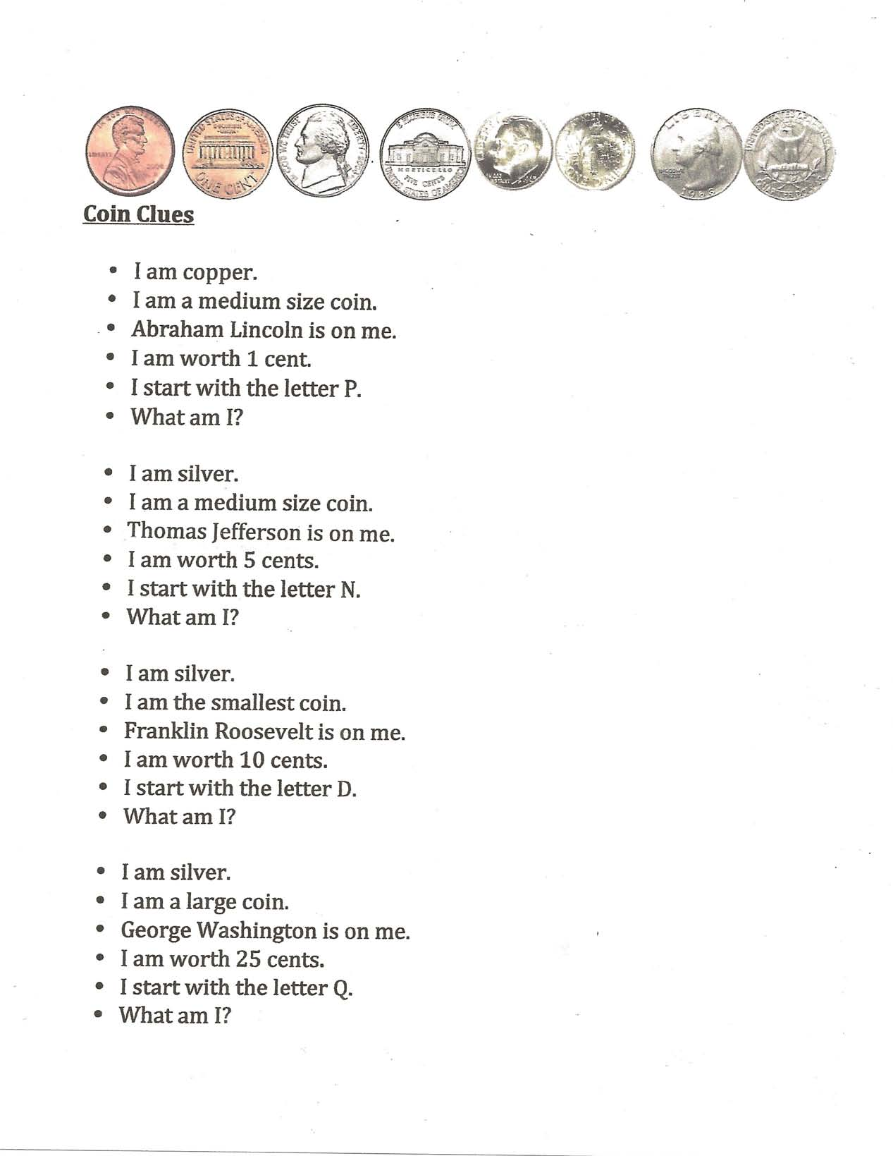 coin games, coin posters, coin poems, coin centers, coin manipulatives, coin activities, coin ideas, presidents day ideas, presidents day games, presidents day activities, presidents day centers, coin certificates