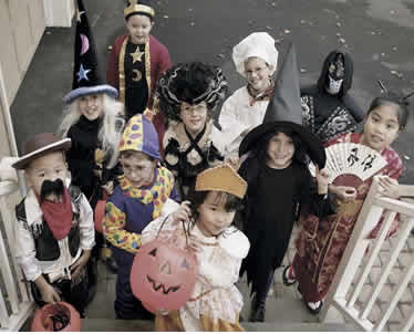 costumes, trick or treaters, craft activity, Halloween activity