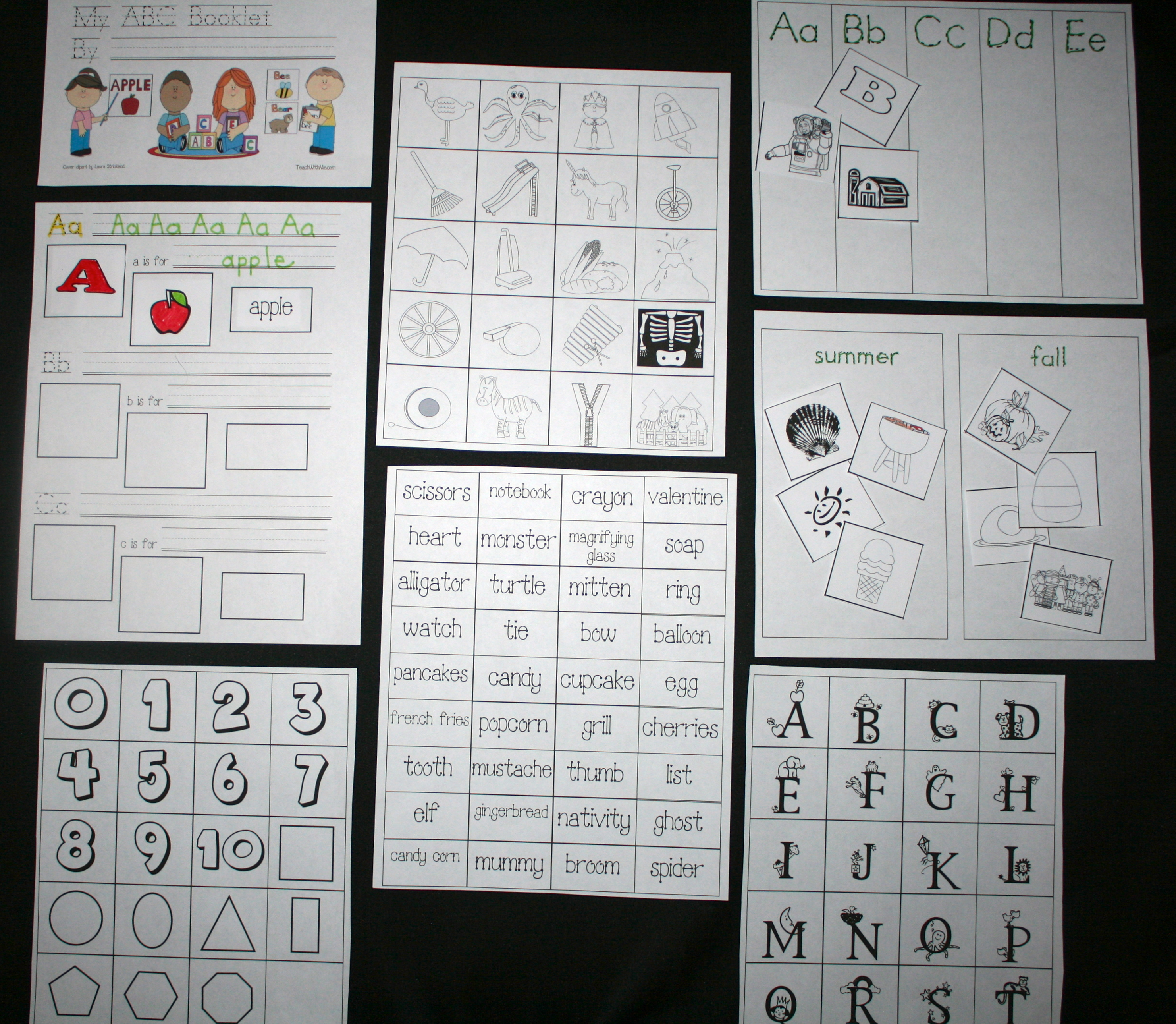 FREE common core lessons, common core lessons for kindergarten, common core lessons for 1st grade, alphabet activirties, alphabet games, upper and lower case letter matching, ABC booklet, Dolch word activities, Dolch nouns, Dolch word cards, CVC activities, CVC word cards, CVC lessons, word wall activities, sight word activities, alphabet picture cards, 439 alphabet picture cards, 439 alphabet word cards,