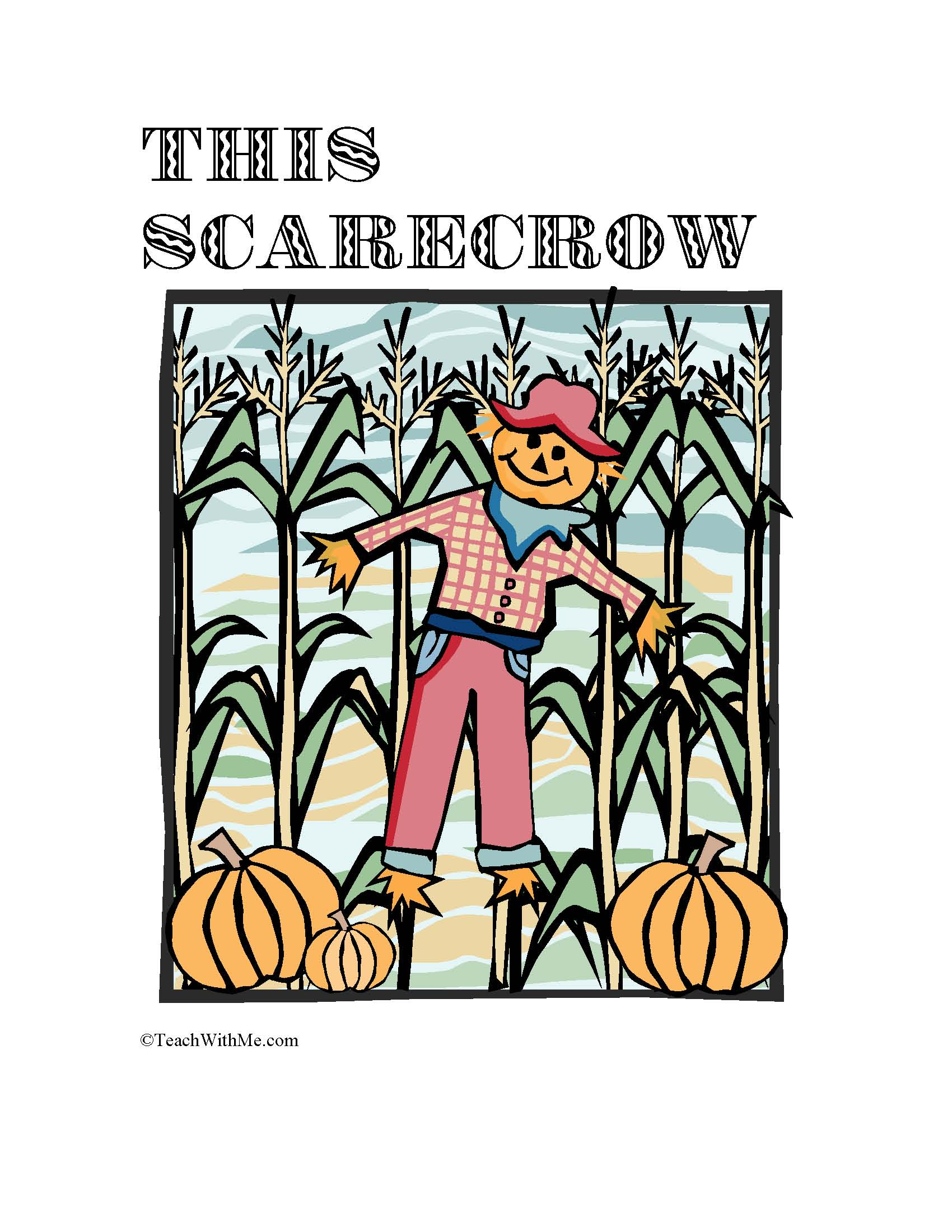 scarecrow activities, easy readers, counting booklet, number words, daily 5 activities, word work activities, rhyming word activities, rhyming word lessons, common core lessons for first grade, common core lessons for kindergarten, nursery rhymes, activities for this old man, this old man lessons, scarecrow lessons, class booklets, fall counting booklets,