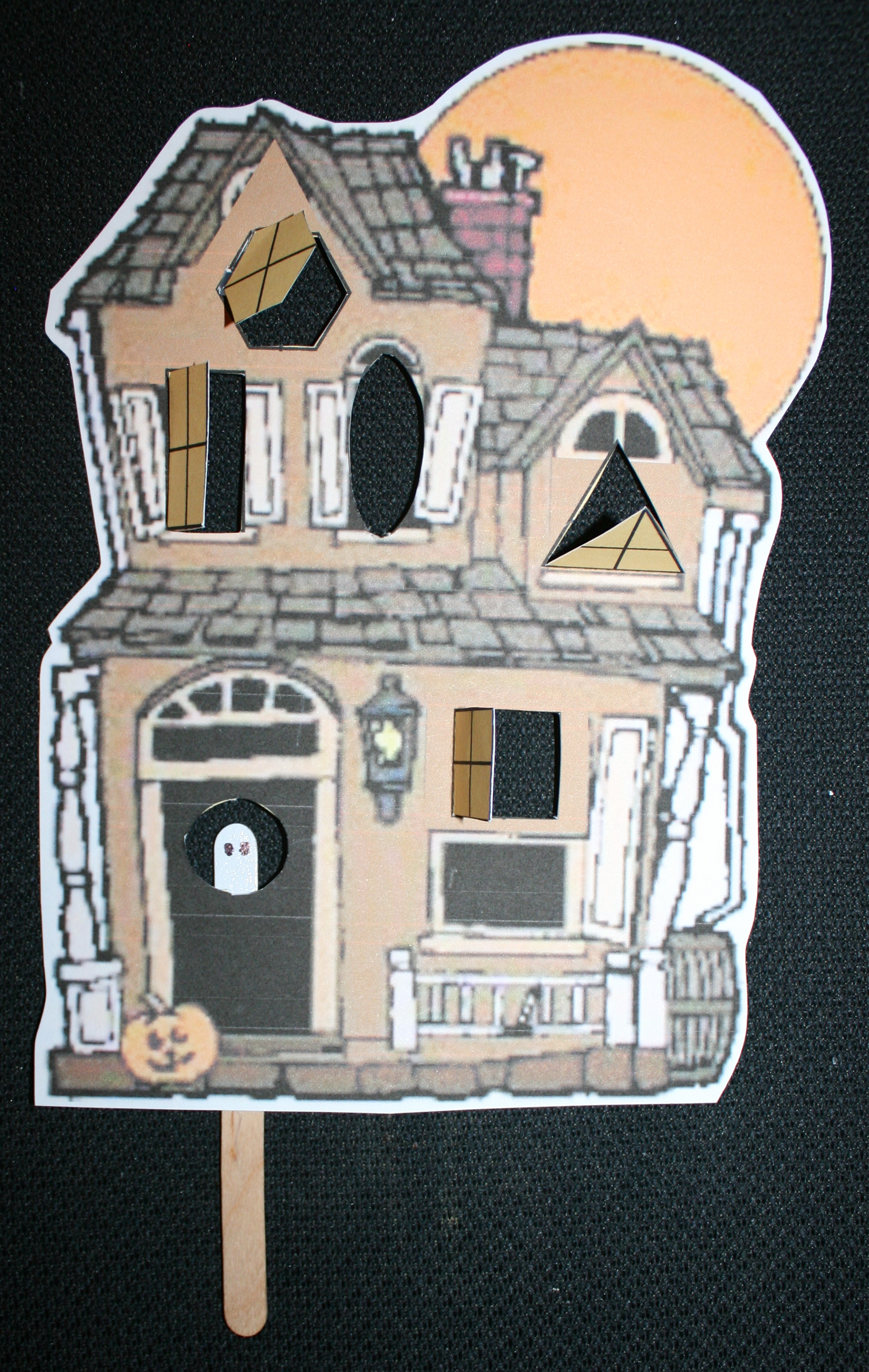 halloween games, halloween centers, halloween math, halloween activities, shape games, shape activities, shape lessons, shape centers, shape matching cards, matching shapes to shape words, ghost finger puppets, haunted house template, haunted house pattern, haunted house with shape windows,ghost activities