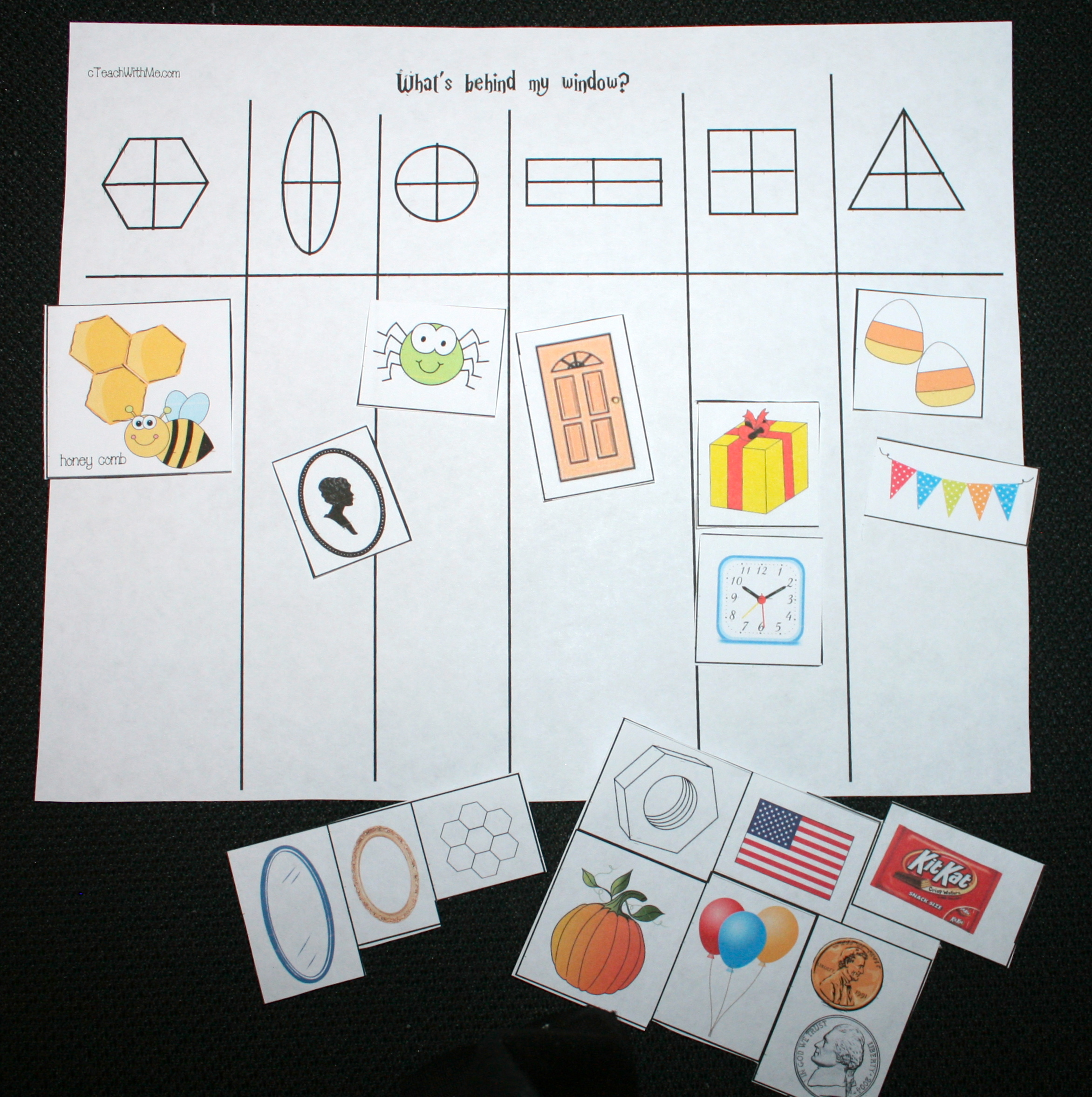 halloween games, halloween centers, halloween math, halloween activities, shape games, shape activities, shape lessons, shape centers, shape matching cards, matching shapes to shape words, ghost finger puppets, ghost activities