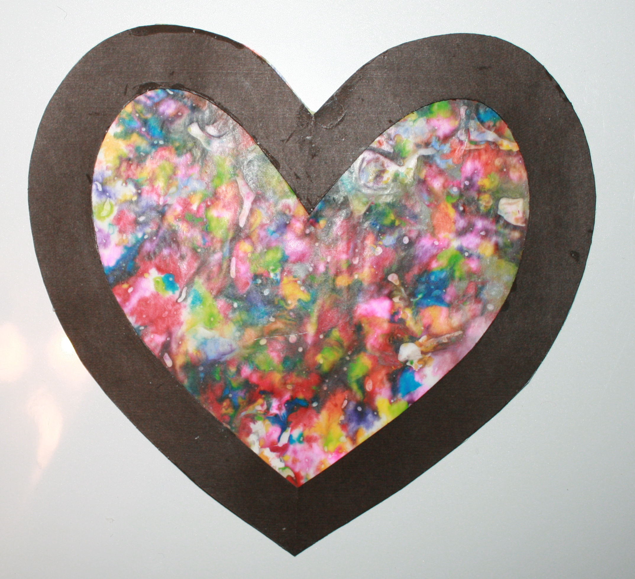melted crayon hearts, valentine cards, tissue paper hearts, valentine projects, valentine bulletin boards, valentine bulletin board ideas, february bulletin boards, february bulletin board ideas, valentine crafts, valentine art, valentine centers, stained glass valentines, melted crayon art,