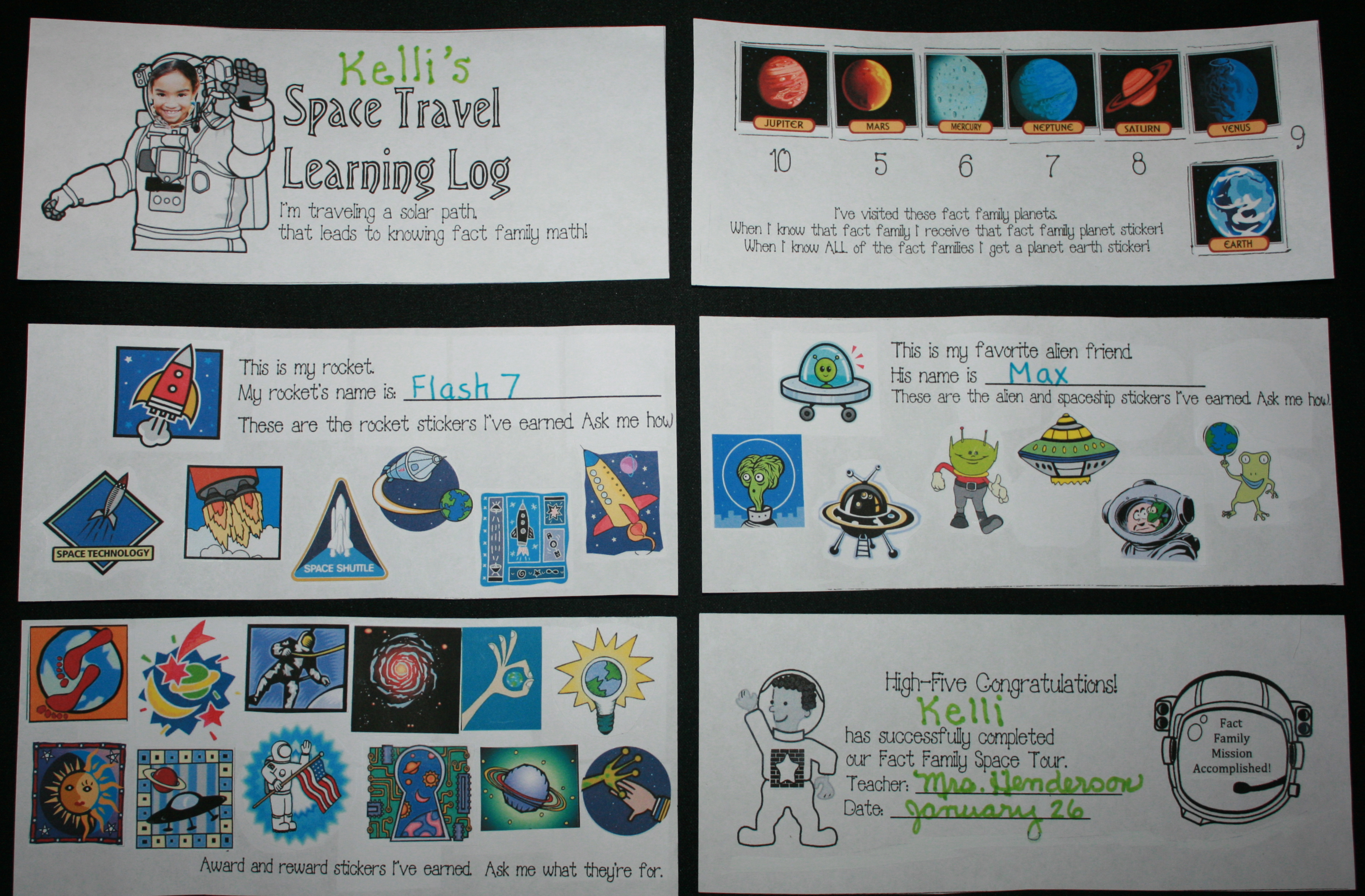 learning log, space travel, planets, fact families, fact family ideas, fact family lessons, fact family lessons, fact family worksheets, fact family skill builders, fact family games, fact family crafts, fact family projects, fact family centers, fact family booklet, fact family houses, fact family certifiicates,