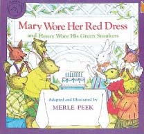 Mary wore a red dress, back to school ideas, back to school books.