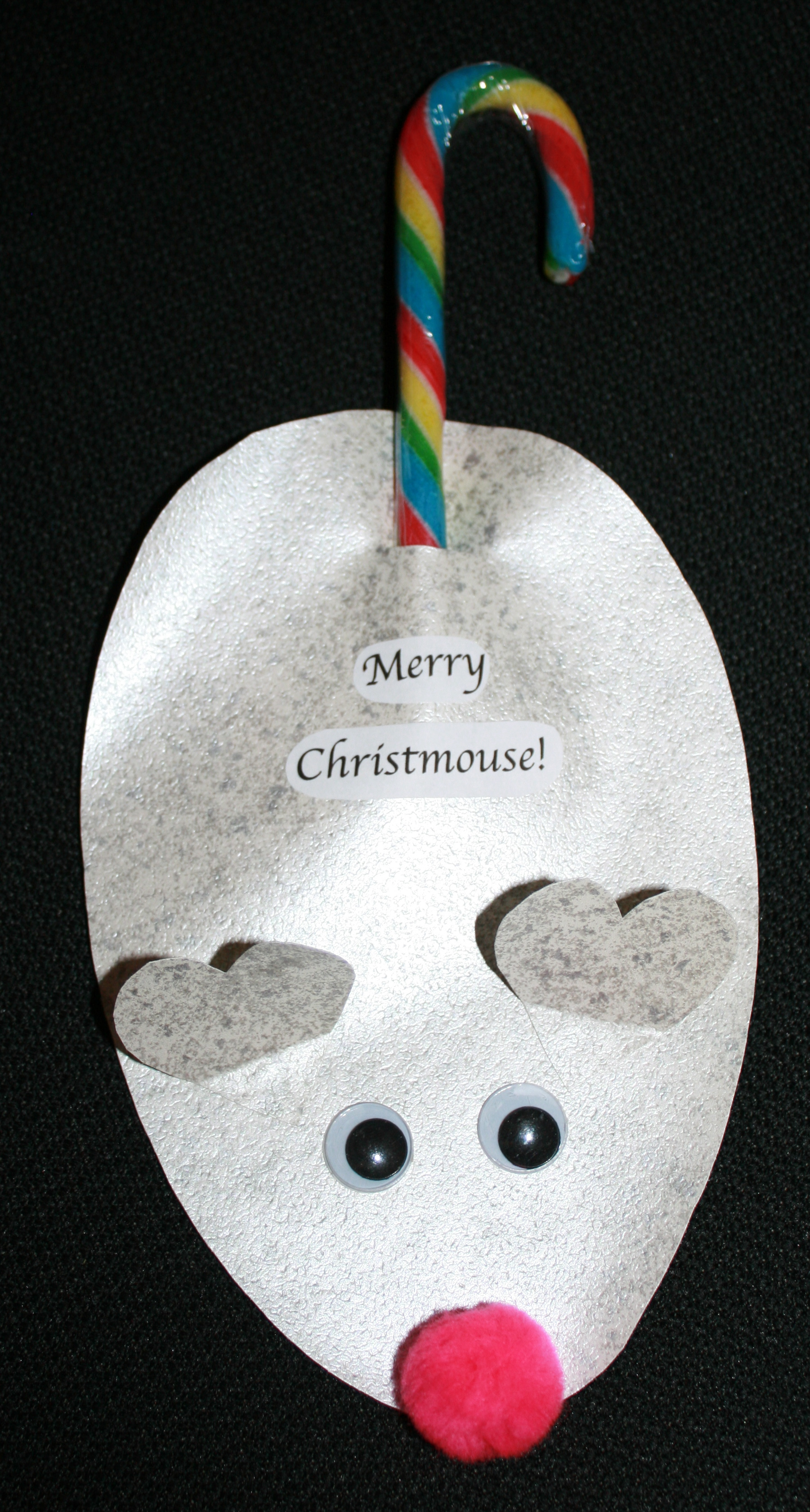 Merry Christmouse, mouse ornament, candy cane mouse ornament, candy cane ornament, Christmas ornaments, Christmas crafts, keepsake ornaments,