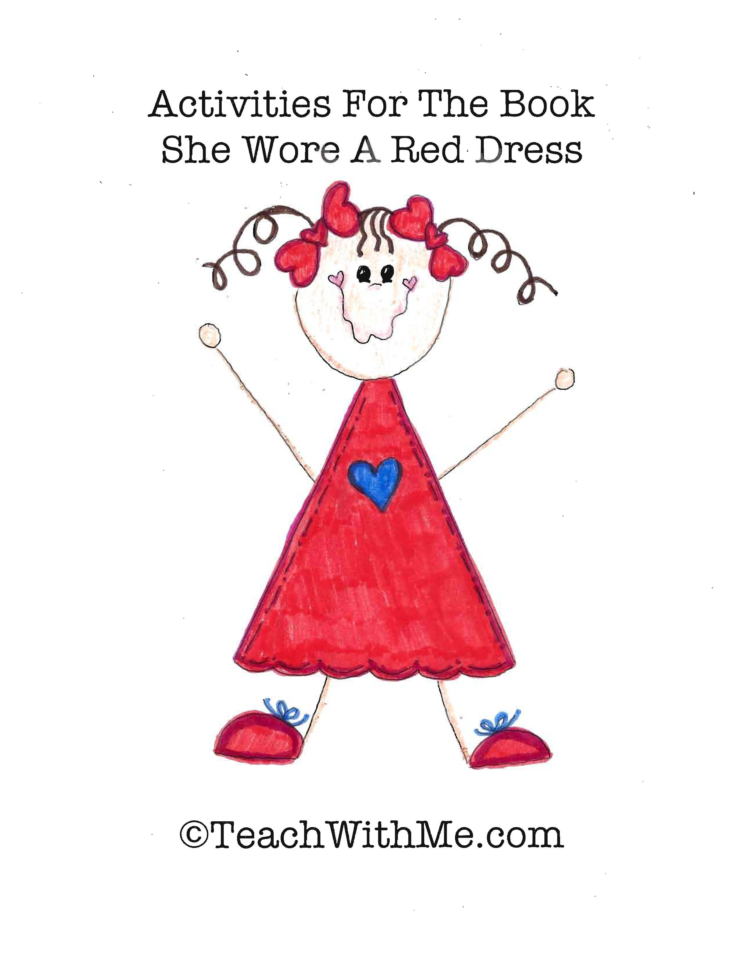 Mary wore a red dress, back to school ideas, writing prompts, ideas for class books, writing class books.