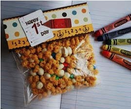 treat bags, back to school ideas, ideas for the first day of school, treat bags for teachers, reading survival kit, first aid kit for writing,