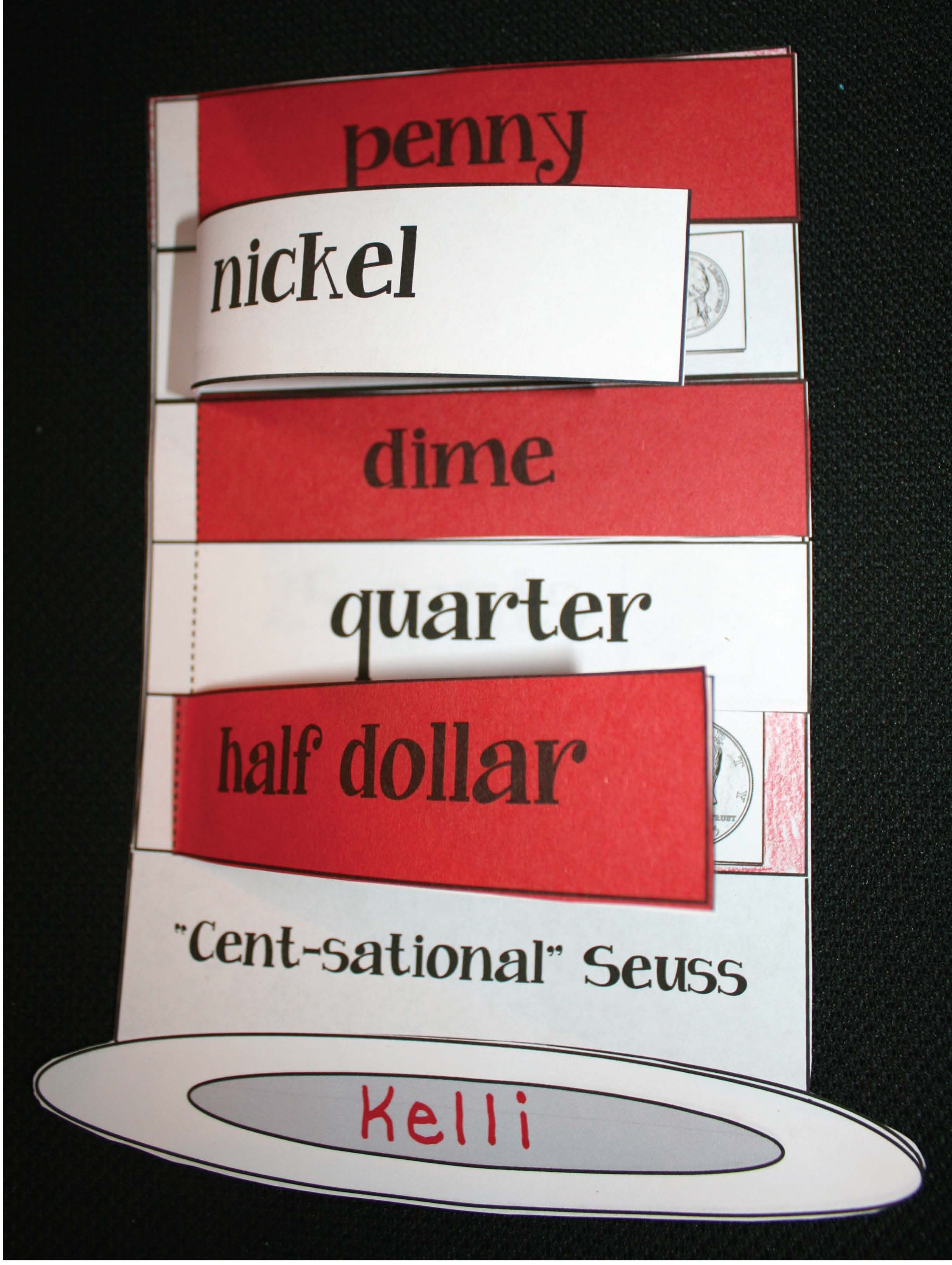 seuss activities, dr seuss activities, dr seuss lessons, cat in the hat activities, seuss hat, coin activities, coin lessons, penny nickel dime quarter lessons, coin identification, march bulletin boards, spring bulletin boards, seuss bulleting boards, money bulletin boards, lessons on money, hat flip book, cat in the hat flip books,