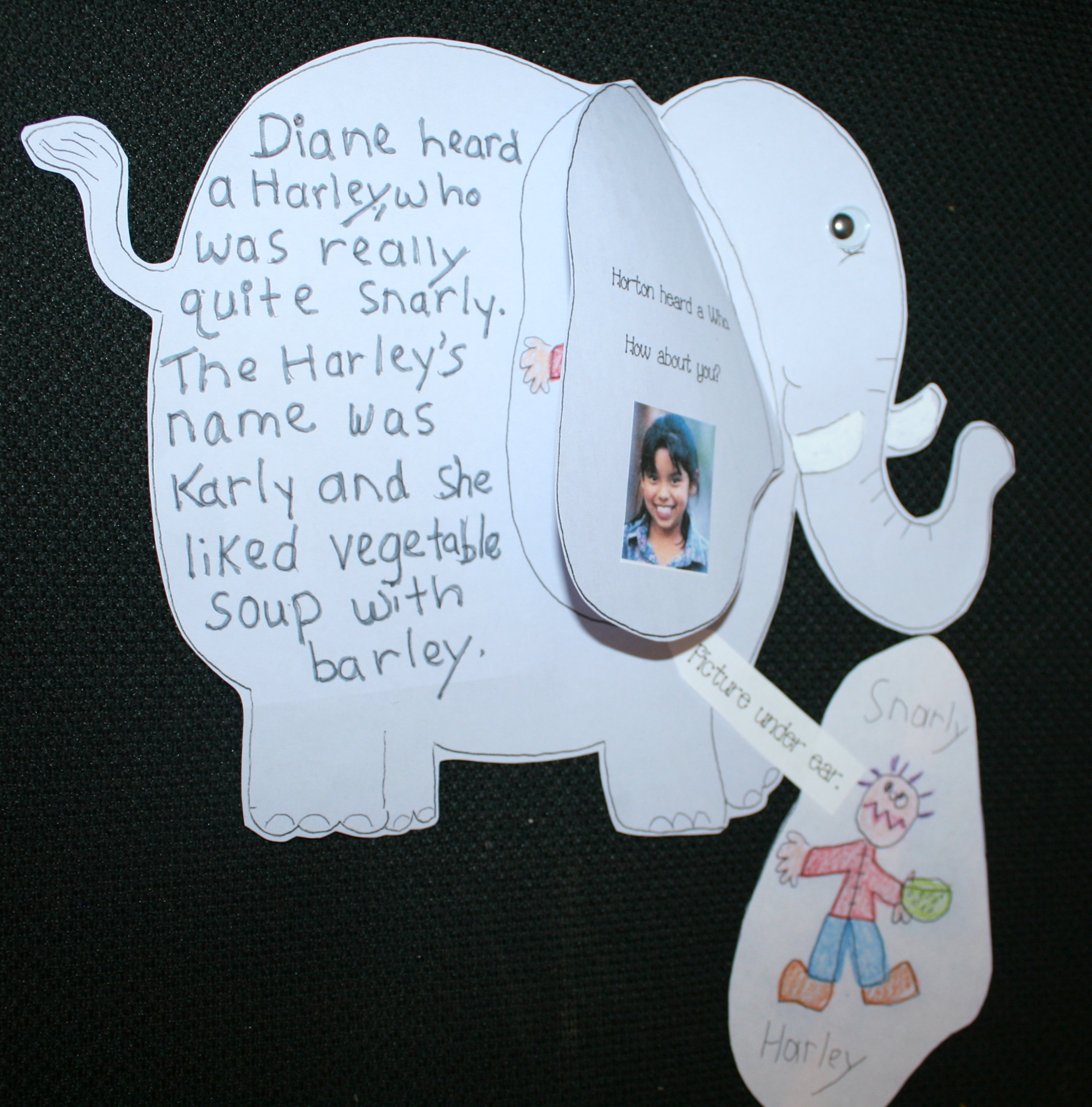 seuss activities, horton activities, seuss lessons, horton lessons, activities for horton hears a who, seuss writing prompts, horton writing prompts, elephants, writing bulletin boards, seuss bulletin boards, horton bulletin boards, spring bulletin boards, march is reading month bulletin boards, whoville activities, Dr. seuss crafts, elephant crafts, writing prompts for march, horton crafts,