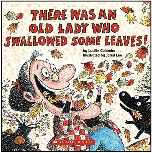 the little old lady who swallowed some leaves, activities for there was an old lady, fall bulletin board ideas, fall writing prompts, sequencing & retelling a story activties, literacy centers for fall