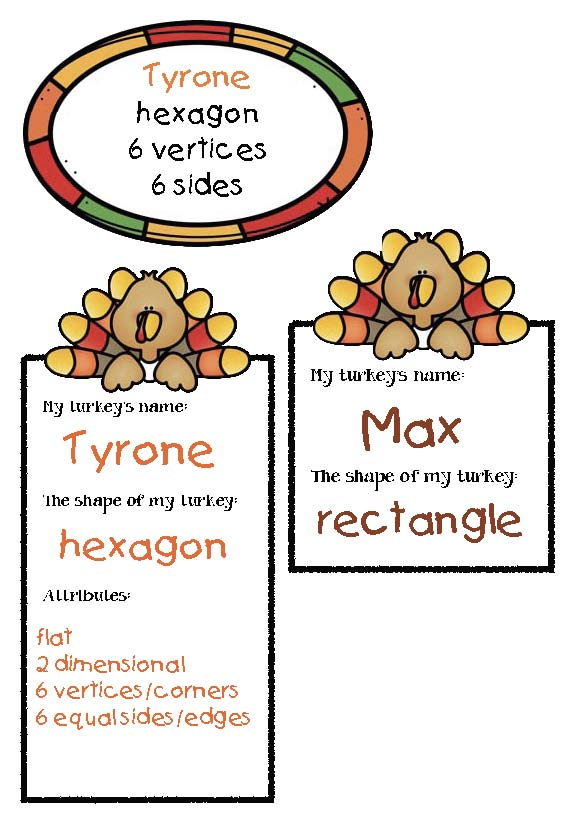 "To add to the fun, encourage children to name their turkey, then fill out a ""turkey tag"", which can be glued to the middle of their turkey's tummy, or displayed next to their turkey on your display."