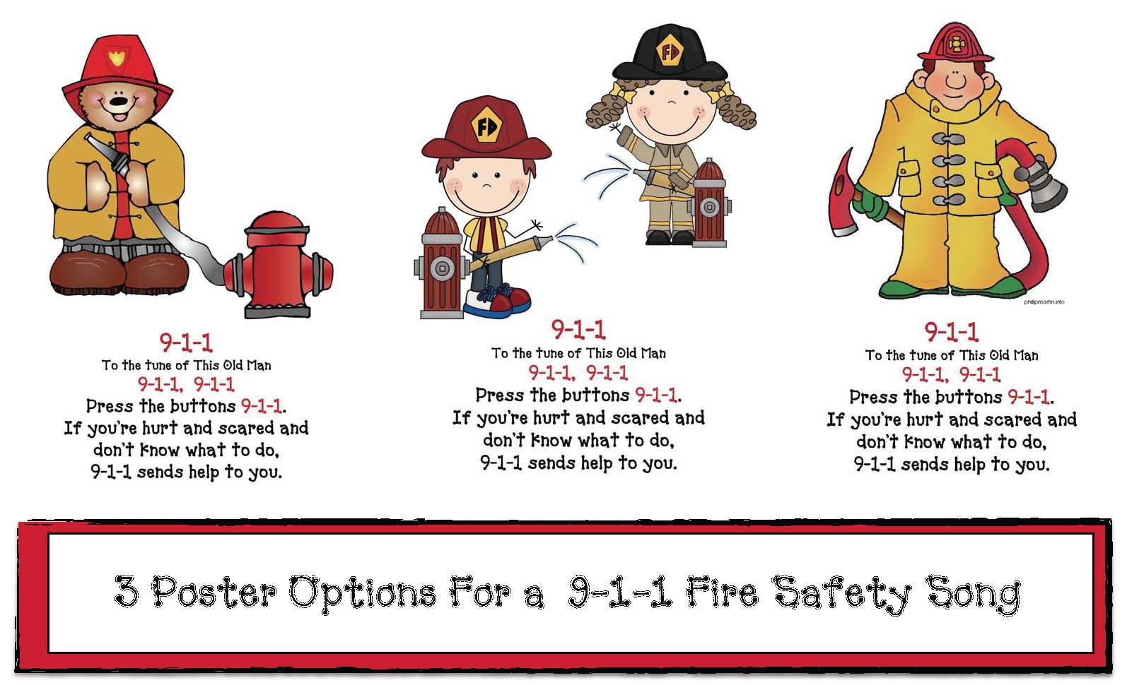 fire safety activities, fire safety crafts, fire safety songs, 911 activities, 911 songs, fire safety writing prompts, good and bad fires, fire safety rules, fire safety posters, fire safety bulletin boards, end punctuation activities