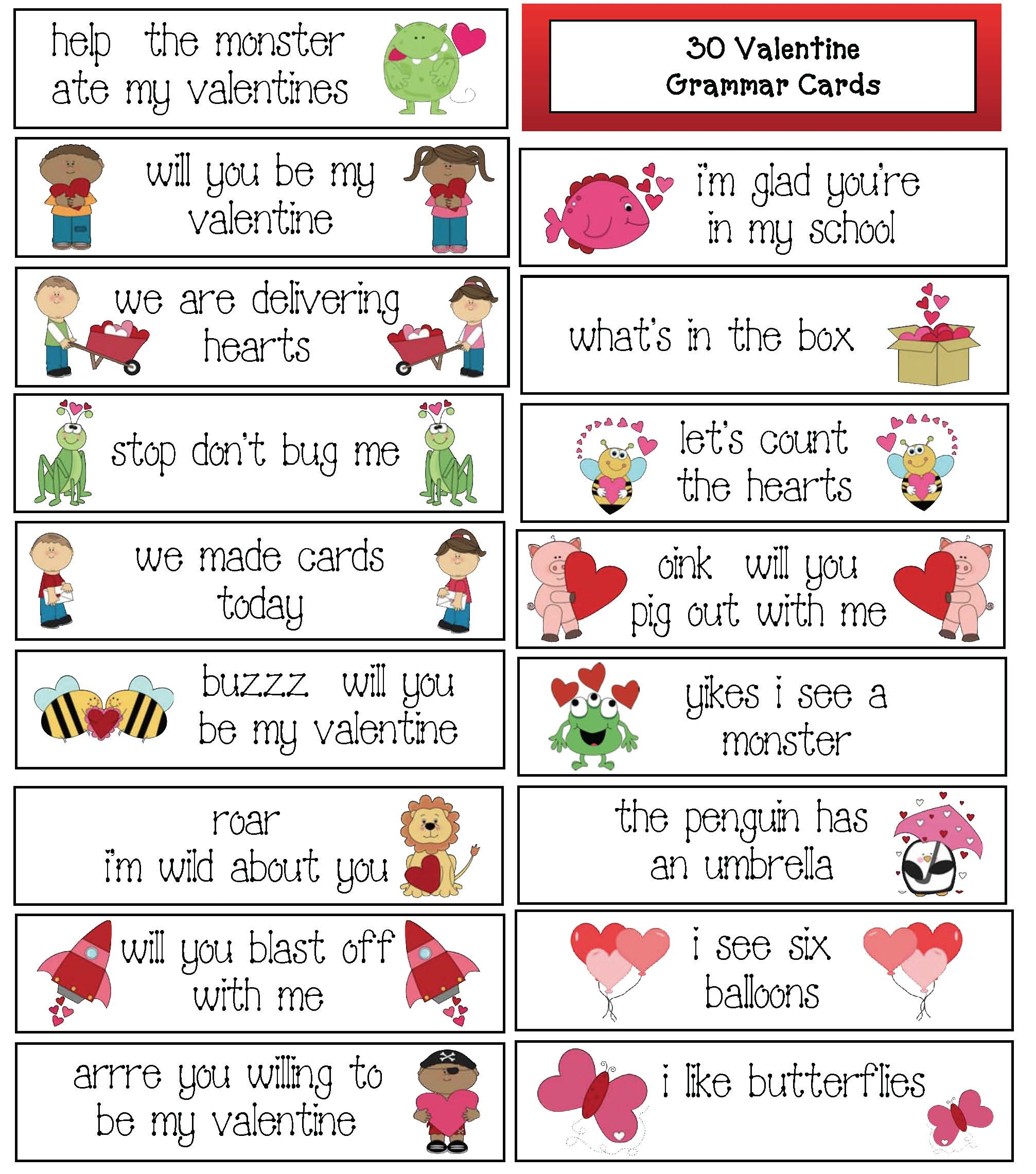 valentine activities, valentines, valentine books for kids, end punctuation activities, beginning capitalization activities, February bulletin board ideas, valentine crafts, valentine bookmarks, valentine number puzzles, keepsake valentines, hand print valentines, valentine books, venn friend valentines, valentine writing prompts,valentine cards, valentine games,