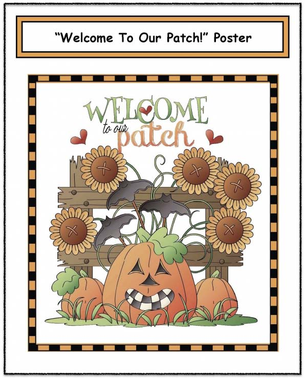 welcome to out patch free pumpkin poster