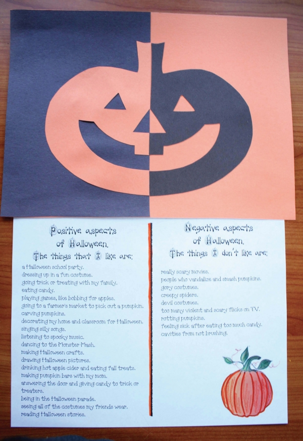 Pumpkin Positive Negative Art Writing Prompt Craft