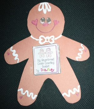 Gingerbread Cookie Counting Booklet