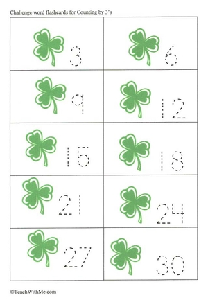 Shamrock Letter and Number Flashcards