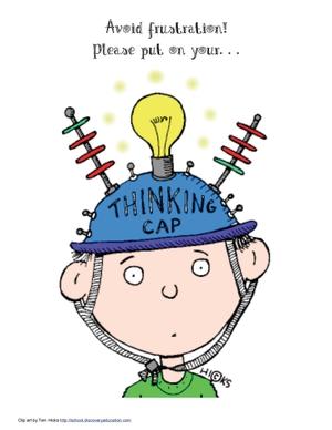 Put On Your Thinking Cap Poster