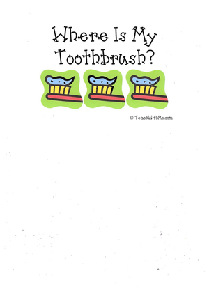 Booklet: Where's My Toothbrush?