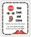 """Stop Look & Listen"" Safety Poster"