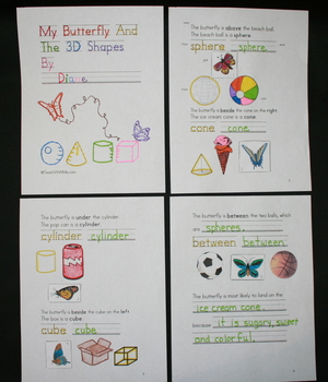 My Butterfly And The 3D Shapes Booklet