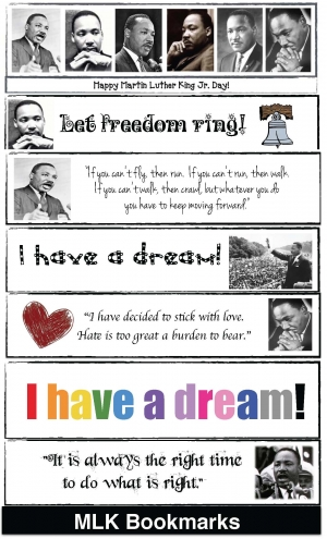 Martin Luther King Bookmarks